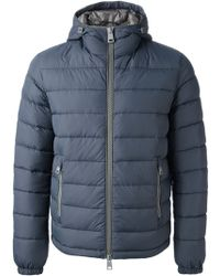 Herno Blue Padded Jacket - Lyst