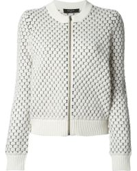 Paul Smith Black Label Zipped Honey Comb Knit Cardigan - Lyst