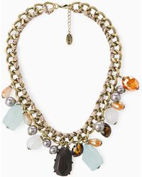 Violeta by Mango Crystal Necklace - Lyst