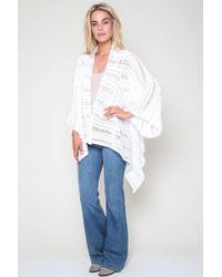 Goddis | Kali Drape Sweater In White | Lyst
