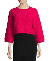 Zac Zac Posen - Ivette 3/4-sleeve Cropped Sweater - Lyst