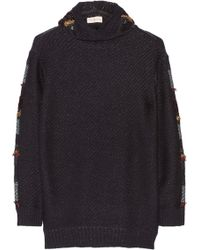 Tory Burch Danielle Hooded Merino Wool-blend and Fil Coupé Tunic - Lyst