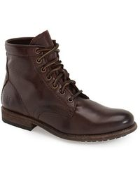 Frye | Tyler Lace-Up Leather Boots  | Lyst