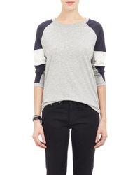Barneys New York Colorblock Long-sleeve T-shirt - Lyst