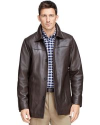 Brooks brothers Leather Car Coat in Brown for Men | Lyst