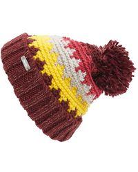 Bench | 'lunch Date' Pompom Knit Beanie - Burgundy | Lyst