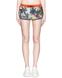 We Are Handsome - 'the Boulevard' Print Active Running Shorts - Lyst