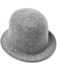 Stella McCartney - Grey Wool Felt Bowler Hat - Lyst