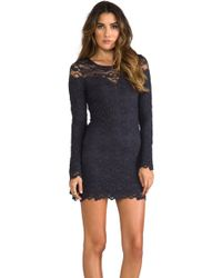 Nightcap Dixie Lace Dress in Charcoal - Lyst