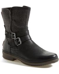 Ugg 'Simmens' Waterproof Leather Boot black - Lyst