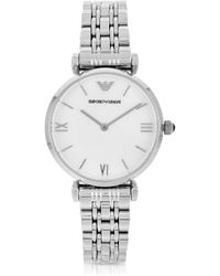 Emporio Armani Retro Stainless Steel Womens Watch - Lyst