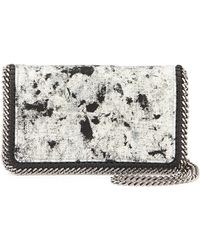 Stella McCartney Splash Falabella Small Crossbody Bag white - Lyst