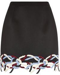 Christopher Kane Lace Trim Mini Skirt - Lyst