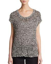 Eileen Fisher Open Knit Top - Lyst
