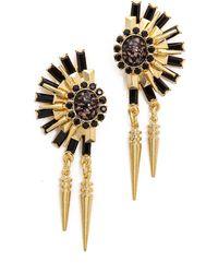 Elizabeth Cole Mila Earrings  Jet Fleck - Lyst