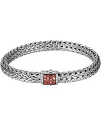 John Hardy Classic Chain 75mm Medium Braided Silver Bracelet - Lyst