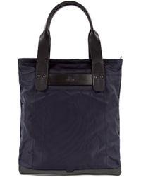 Sunspel Showerproof Italian Nylon And Leather Tote Bag - Blue