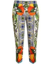 Dolce & Gabbana Majolica Trousers - Lyst