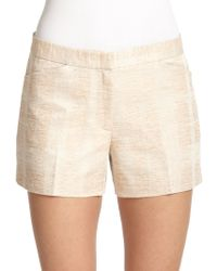 Tory Burch White Edith Shorts - Lyst