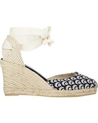 Barneys New York Arya Wedge Espadrilles - Lyst