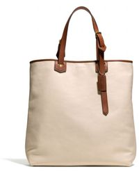 Coach Bleecker Leather Shopper - Lyst