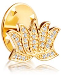 Astley Clarke - Gold-plated Lotus Biography Pin - Lyst
