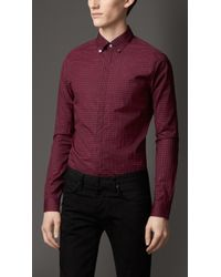Burberry Cotton Gingham Shirt - Lyst