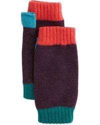 Brora - Colorblock Cashmere Wrist Warmers - Lyst