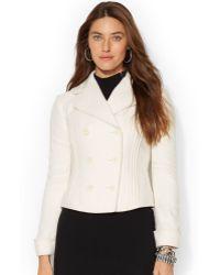 Lauren by Ralph Lauren Double-breasted Pintucked Jacket - Lyst
