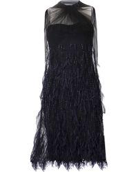 Wes Gordon Feather Dress - Lyst