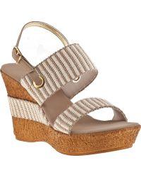 Onex For Jildor Thalia Wedge Sandal Natural Fabric - Lyst