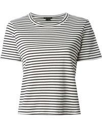 Theory Horizontal Stripe T-Shirt - Lyst