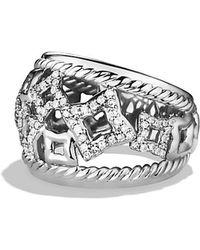 David Yurman Quatrefoil Ring With Diamonds - Lyst