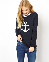 Jack Wills Anchor Sweater - Blue
