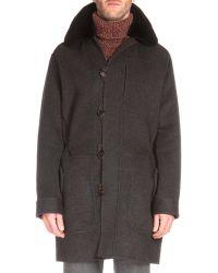 Berluti - Fur-trimmed Cashmere Parka Coat - Lyst