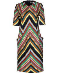 Matthew Williamson Yellow Kneelength Dress - Lyst
