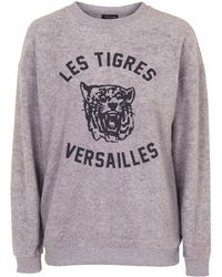 Topshop | Versaille Brushed Sweatshirt | Lyst