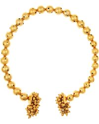 Paula Mendoza - One Round Ball Gold-plated Choker - Lyst