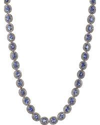 Munnu Diamond  Tanzanite Long Necklace - Lyst