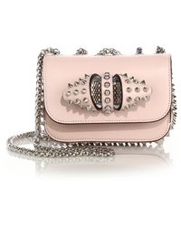 Christian Louboutin   Sweety Charity Studded Leather Crossbody Bag   Lyst
