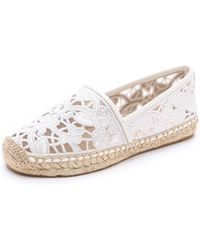 Tory Burch Lucia Lace Espadrilles  - Lyst