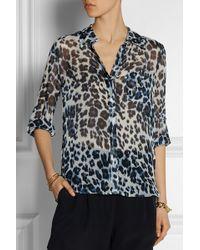 Diane von Furstenberg Lorelei Two Leopard-Print Silk-Chiffon Shirt - Lyst