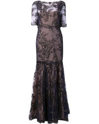 Notte By Marchesa Embroidered Lace Gown - Lyst