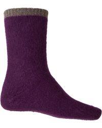CASH CA - Purple Cashmere Ankle Socks - Lyst