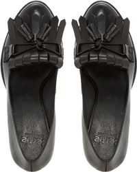 Bertie - Avita Fringed Leather Court Shoes - Lyst