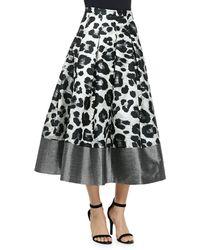 Sachin & Babi Wisteria Leopard-print Pleated Midi Skirt - Lyst