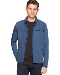 Calvin Klein Hidden Hood Jacket blue - Lyst