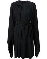 Gareth Pugh Wide Sleeve Pleated Dress - Lyst