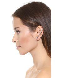 Erickson Beamon Left Glass Pearl Ear Crawler - Pearl - White