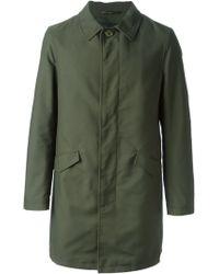 Etro Classic Overcoat - Lyst